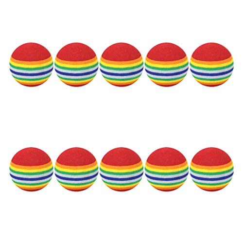 Sharplace 10Pcs Premium Soft EVA Foam Rainbow Play Bolas Golf Interior Práctica Al Aire Libre