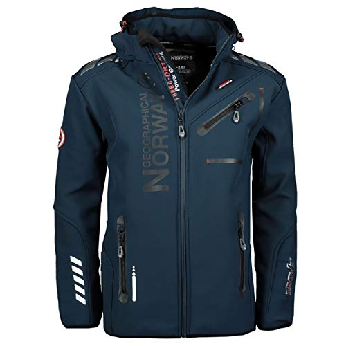 Geographical Norway Herren Softshelljacke Royaute navy/black XL