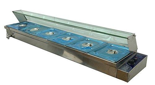67' Counter-top Warmer 6-Pan Food Warmer Bain Marie Restaurant Steam Table