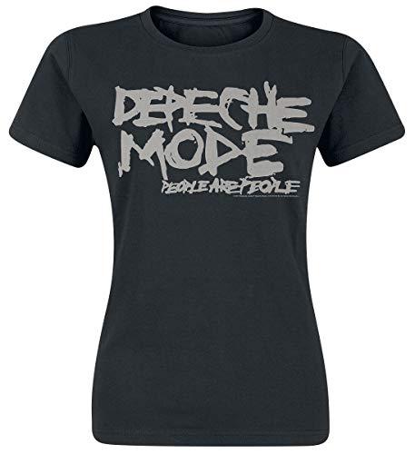Depeche Mode People Are People Frauen T-Shirt schwarz XL 100% Baumwolle Band-Merch, Bands