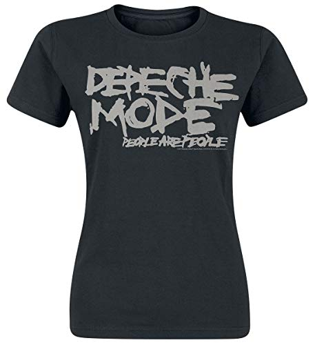 Depeche Mode People Are People Frauen T-Shirt schwarz M 100% Baumwolle Band-Merch, Bands