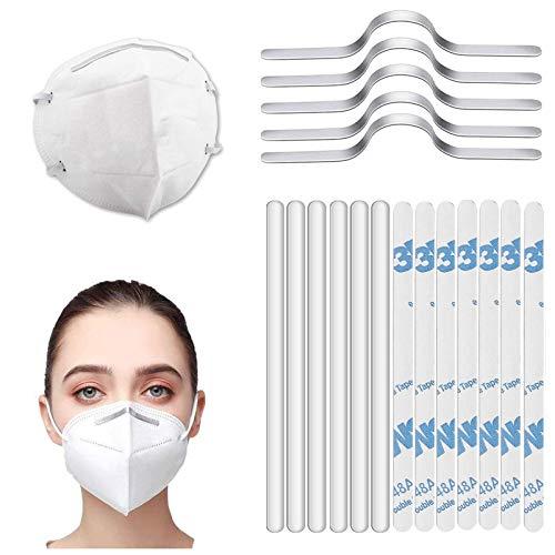 100 PCS Nose Bridge for Mask,Metal Aluminum Nose Bridge Strip Flexible Aluminum Foil Strip Bar Stick for DIY Nose Bridge Craft Making Sewing Making Accessories Handmade Crafting
