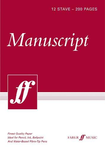 200-page A4 Manuscript Pad, 12-stave: (white Pad)