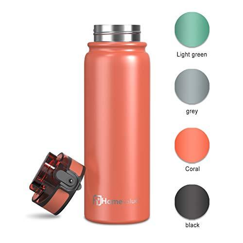 Homevalue Botella de Agua Acero Inoxidable 500ml, Aislamiento de Vací