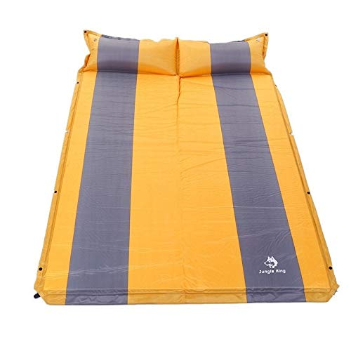 Tapis de couchage avec oreiller Nemo pour camping et activités de plein air - Multicolore - Pour randonnée, escalade - Pour lit double - Jaune