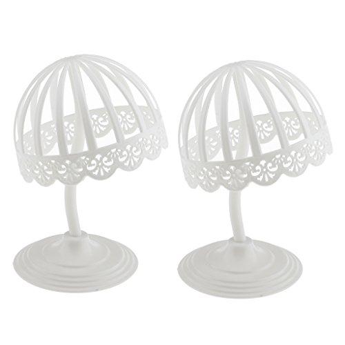 Homyl 2 Pcs Support Chapeau et Porte Perruque à Rack Display Stand Forme en Dôme en Plastique