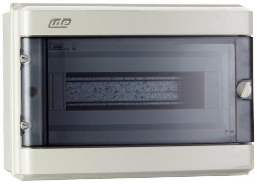 UNITEC 47103 AP - FR - Kleinverteiler IP 55, grau 12 Module