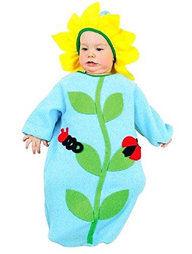 0/9 maanden - kostuum - vermomming - carnaval - halloween - bloem - lichtblauw - blauwe kleur - baby