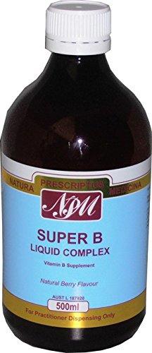 Vitamine B Complex - Super B Vloeibaar Complex - 500ml - Natuurlijke Berry Smaak