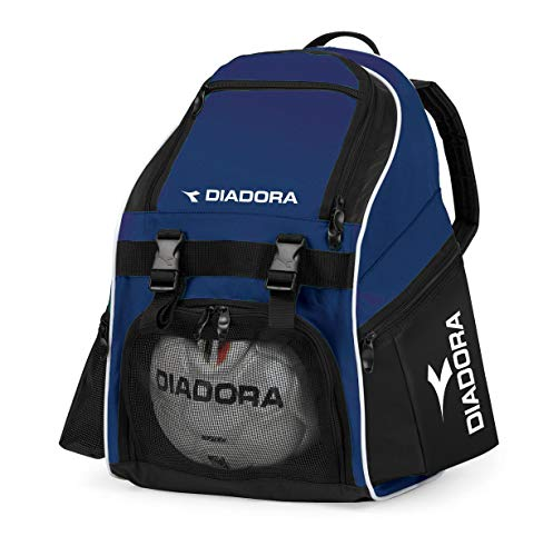 Diadora Junior Squadra Mochila, Color Azul Marino y Negro, tamaño Talla única
