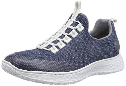 Rieker Damen Frühjahr/Sommer N4174 Sneaker, Blau (Clear/Denim/Jeans/ 16 16), 38 EU