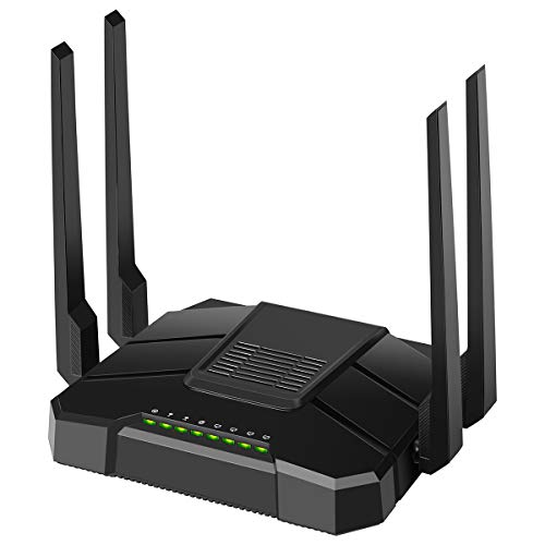 【2020 Newest】 Smart WiFi Router Dual Band Gigabit Wireless Internet Router for Home AC1200 High Speed Internet Router with USB 2.0 & SD Card Slot VPN Server Firewall Parental Control
