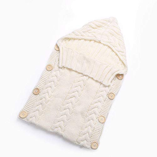 Gigoteuse d'Emmaillotage Couverture Bébé Bébé Câlin En Tricot De Coton De 0 À 6 Mois Sac De Couchage Poussette Bébé