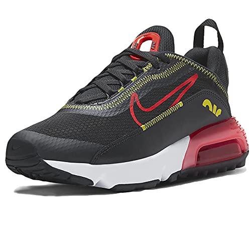 Nike Air MAX 2090 (GS), Zapatillas para Correr, Dk Smoke Grey Bright Crimson High Voltage, 35.5 EU