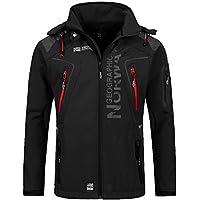 Geographical Norway Techno - Chaqueta flexible para hombre, con capucha desmontable, Hombre, color Negro , tamaño extra-large