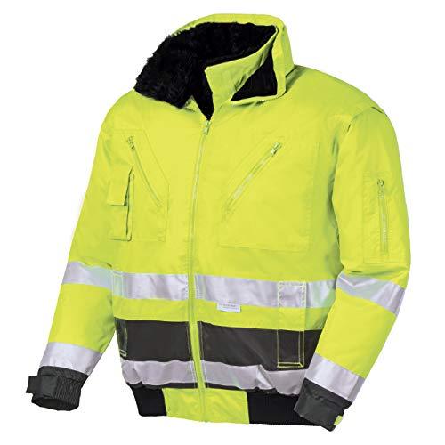teXXor Warnschutz-Pilotenjacke Vancouver wasserdichte, winddichte Arbeitsjacke, L, gelb, 4106
