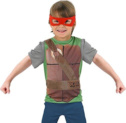 Rubie's-déguisement officiel - Tortue Ninja TMNT- Accessoire Pour Déguisement Set D'accessoire Kit Blister Tmnt Tabard + 4 Loups En Couleur- Taille Standard - 154670