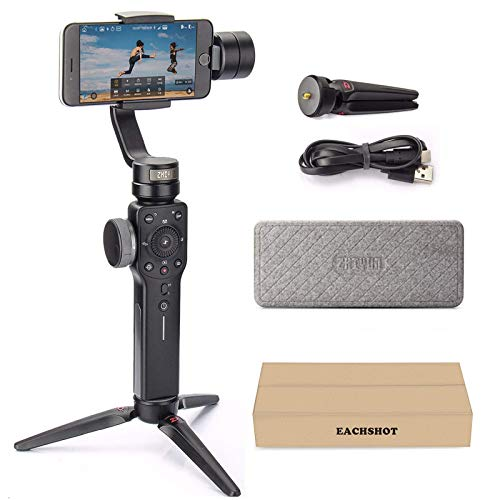 Zhiyun Smooth 4 3-Axis Handheld Gimbal Stabilizer with Grip Tripod for iPhone 12 11 Pro Xs Max Xr X...