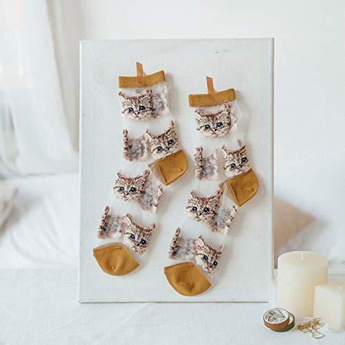 2 Pares de Novedad Calcetines de Marea de Seda de Cristal Divertido Girasol Flor de Vid Felicidad Calcetines de Mujer Ocio Calcetines a10