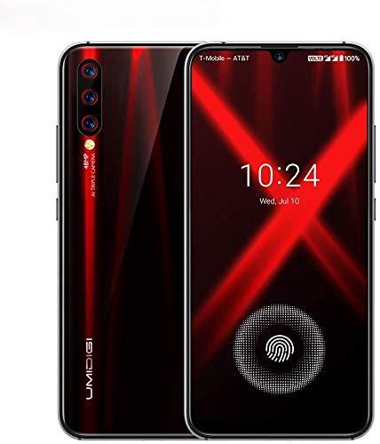 """UMIDIGI X Smartphone con Pantalla AMOLED de 6,35"""" Teléfono Móvil 128GB Cámara Triple AI de 48MP Escáner de Huellas Digitales en Pantalla Batería 4150 mAh Android 9 Teléfono Versión Global [Negro]"""