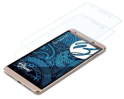 Bruni Schutzfolie kompatibel mit Cubot X15 Folie, glasklare Bildschirmschutzfolie (2X)