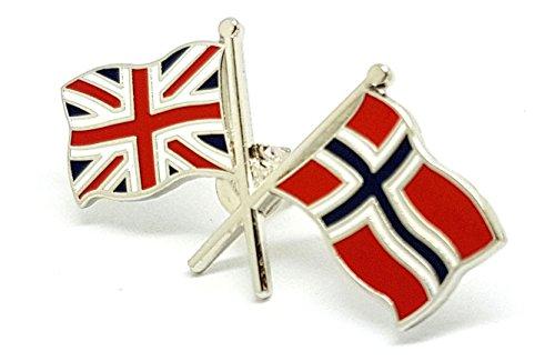 Shopiyal Pin de Bandera de la Amistad del Reino Unido de Noruega