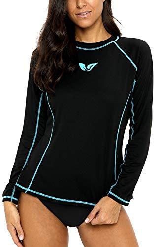 ATTRACO Rash Guard Women Long Sleeve Swim Top UV Shirts Swim Shirts Loose Fit