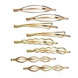 Messen Hair Pins Set Geometric Hair Clips Metal Hairpin Minimalist Hair Styling Jewelry Ha...