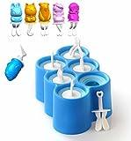 Moldes Ice Cube, Helado de Silicona, Gel de sílice, Estante de Hielo Creativo, Juego de Molinillo de Helado Hecho en casa: un diseño Que Contiene 6 Patrones, niños como Salud y Seguridad.