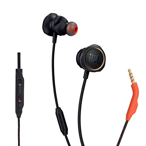 JBL Quantum 50 Wired in-Ear Gaming Headphone with Twistlock Technology,...