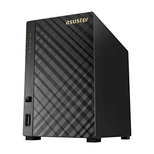 Asustor AS3202T 2-Bay NAS System (Intel Celeron 1,6 GHz Quad-Core Prozessor (Braswell), 2GB RAM, 1x Gigabit-LAN, HDMI 1.4b für 4K Playback, Raid)