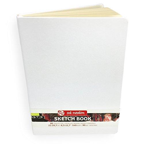 Royal Talens – Art Creation Hardback Sketchbook – 80 Sheets – 140gsm – 21 x 29.7cm – White Cover