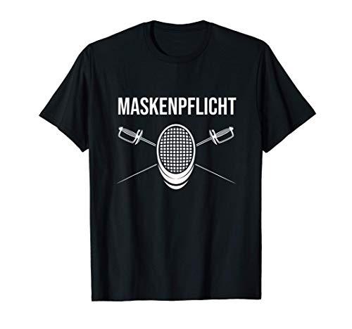 Fechten Maskenpflicht Lustiges Fechter Sprüche Design T-Shirt