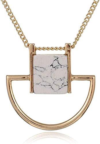 Yaoliangliang Collar Aleación Personalidad exagerada Piedra de Pino Novias Novia Envío de Regalos