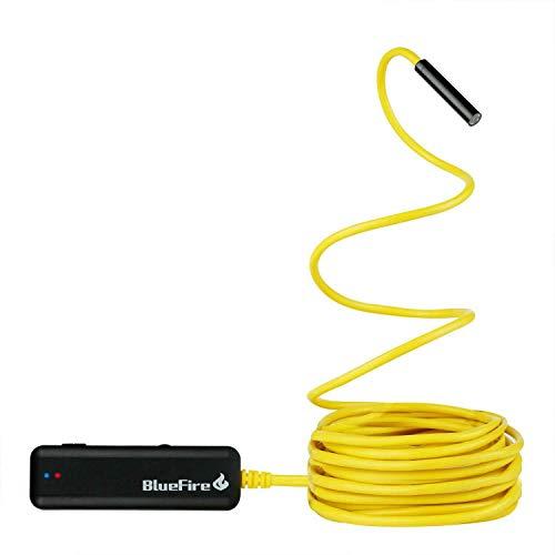 BlueFire Semi-rigid Flexible Wireless Endoscope IP67 Waterproof WiFi...