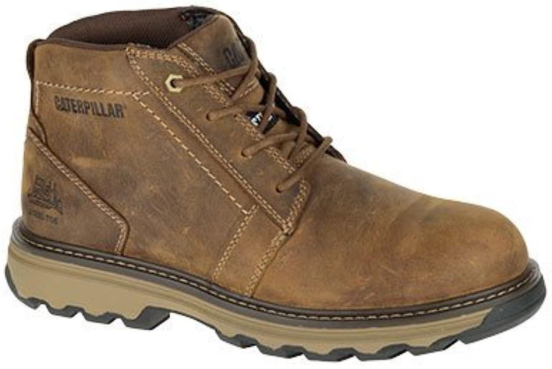 Caterpillar Cat Parker Brown Tan SBP Work Safety Boots Steel Toe & Midsole