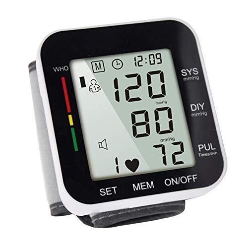 COOLEAD Tensiómetro de Muñeca, Tensiómetro Digital de Muñeca Automático Portátil con Gran Pantalla/Memoria(2x99)/Medición Precisa en Hogar Viaje para Padres