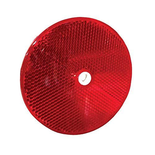 Red 3-1/4' Diameter Reflector Buttons, Color=Red