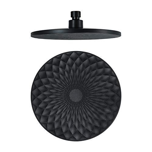 Shower Set 9 Pulgadas Alcachofa de Ducha Alta Presiòn Cabezal de Ducha Función única Placa de Ducha ABS Ronda Alcachofa Ducha,Negro
