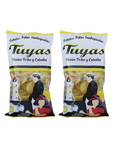 Patatas fritas sabor huevo frito y cebollas - Patatas Tuyas