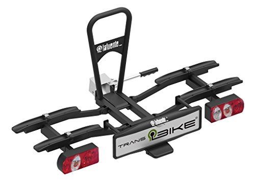 TransBike Portabicicletas sobre Bola para 2 bicis. Plegable, abatible con Sistema antirrobo en el Portabicis y en los Brazos de sujeción