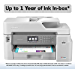 Brother Inkjet Printer, MFC-J5845DW, INKvestment Color Inkjet All-in-One Printer with Wireless, Duplex Printing and Up to 1-Year of Ink in-Box, Amazon Dash Replenishment Enabled (Renewed)