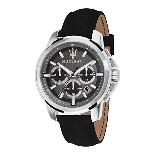 Orologio da uomo, Collezione Successo, movimento al quarzo, cronografo, in acciaio e cuoio - R8871621006