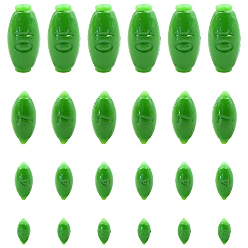 Plomos de Pesca Plomada Aparejo Sinkers - No Hay Desgaste de la línea de Pesca, Plata Dropshot Plomo Drop Shot Plomo Jig Heads 1 Set (2g/4g/7g/10g)*6, Piezas extraíbles de plástico Verde.