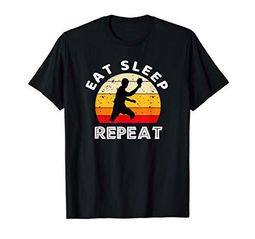 Eat Sleep Ping Pong Repeat Funny Table Tennis Camiseta