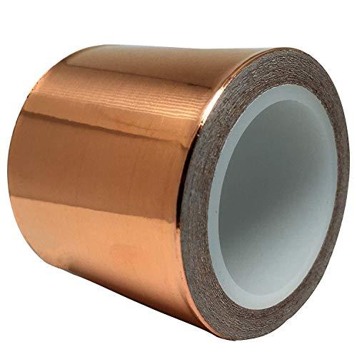 Copper Foil Tape (2inch x 18ft) for Guitar and EMI Shielding, Slug Repellent, Crafts, Electrical...