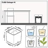 LECHUZA CUBE Cottage 40 Granit Komplett-Set - 2