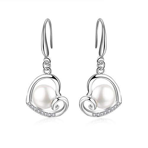 Vvff Gancho Pendientes De Plata Mujer Pendientes Colgantes De Cristal Natural Pendientes Colgantes De Perlas Para Mujer