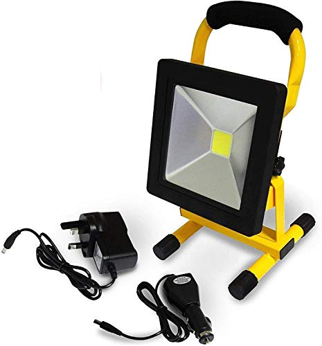 AcornSolution Portable LED Work Light Cordless Rechargeable IP44 LED Light Hand Lamp, LED Flood Lights Daylight White (20W)