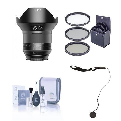 Irix 15mm f/2.4 Blackstone Lens for Pentax DSLR Cameras - Manual Focus - Bundle with 95mm Uv Filter, LensAlign MkII Focus Calibration System, FocusShifter DSLR Follow Focus, and More